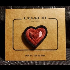 Coach heart pin sold out rare retired limited